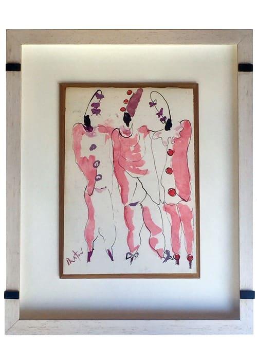 Dessin encré aquarelle de Cecil Beaton