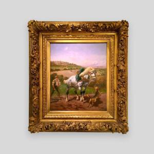 Huile sur bois signé Brunet Houard
