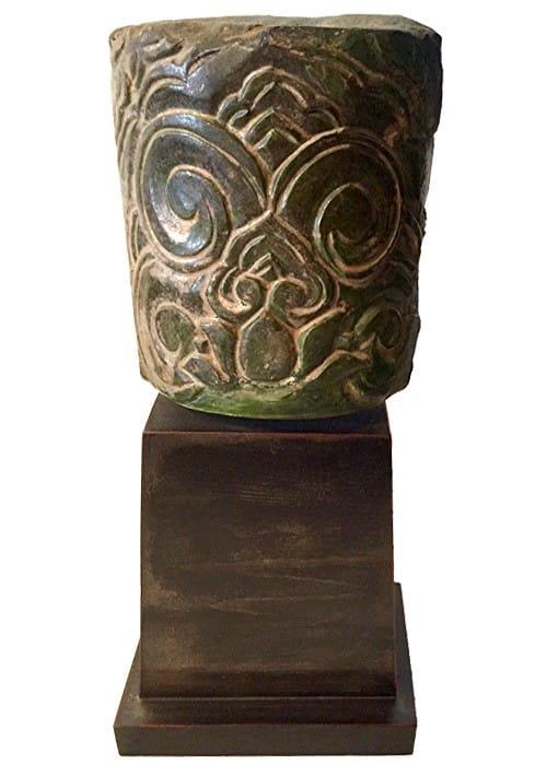Terre cuite vernissée Sculture de la dynastie des Han
